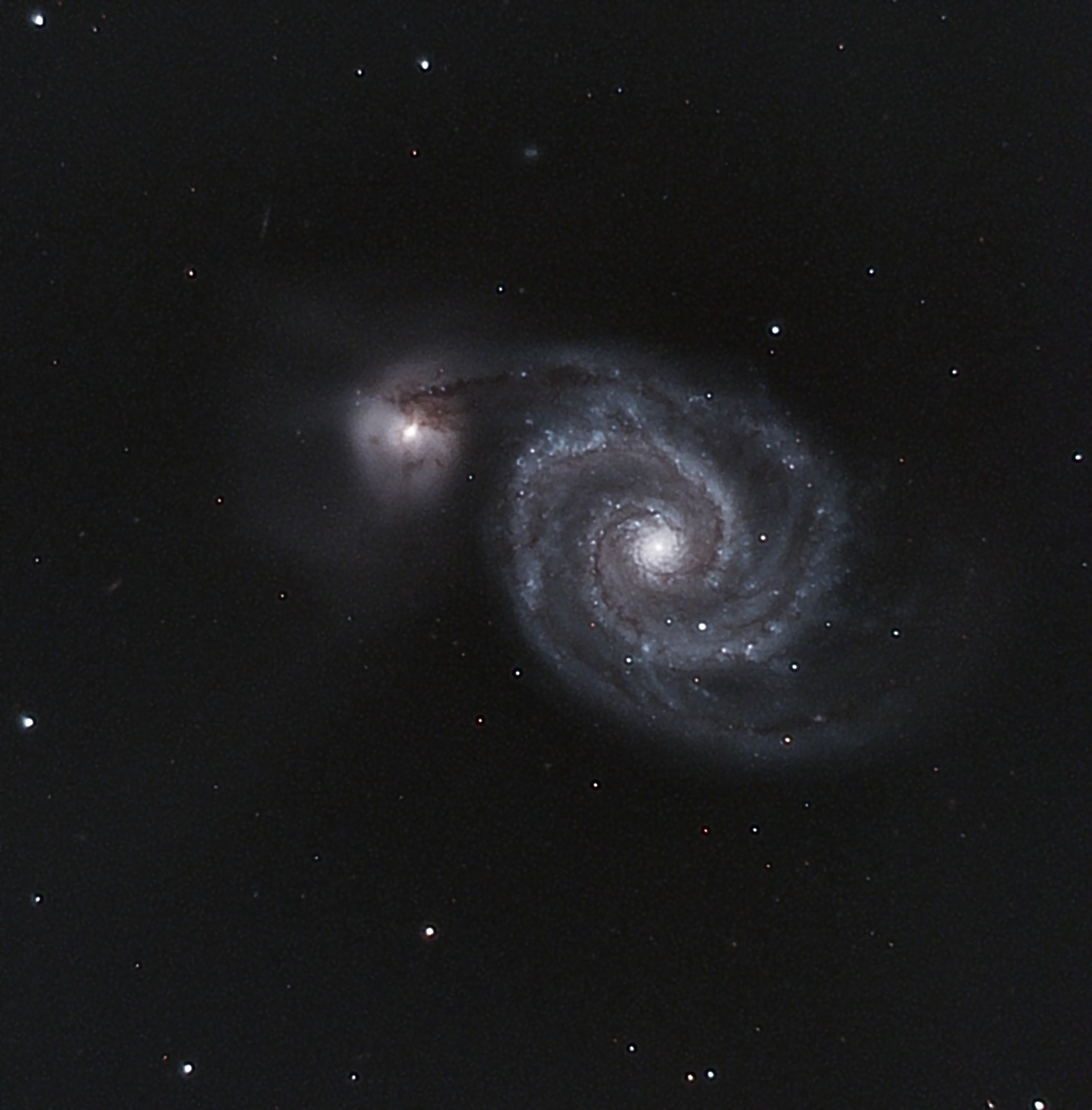 M51 - Whirlpool Galaxy and companion (NGC 5194 and 5195)