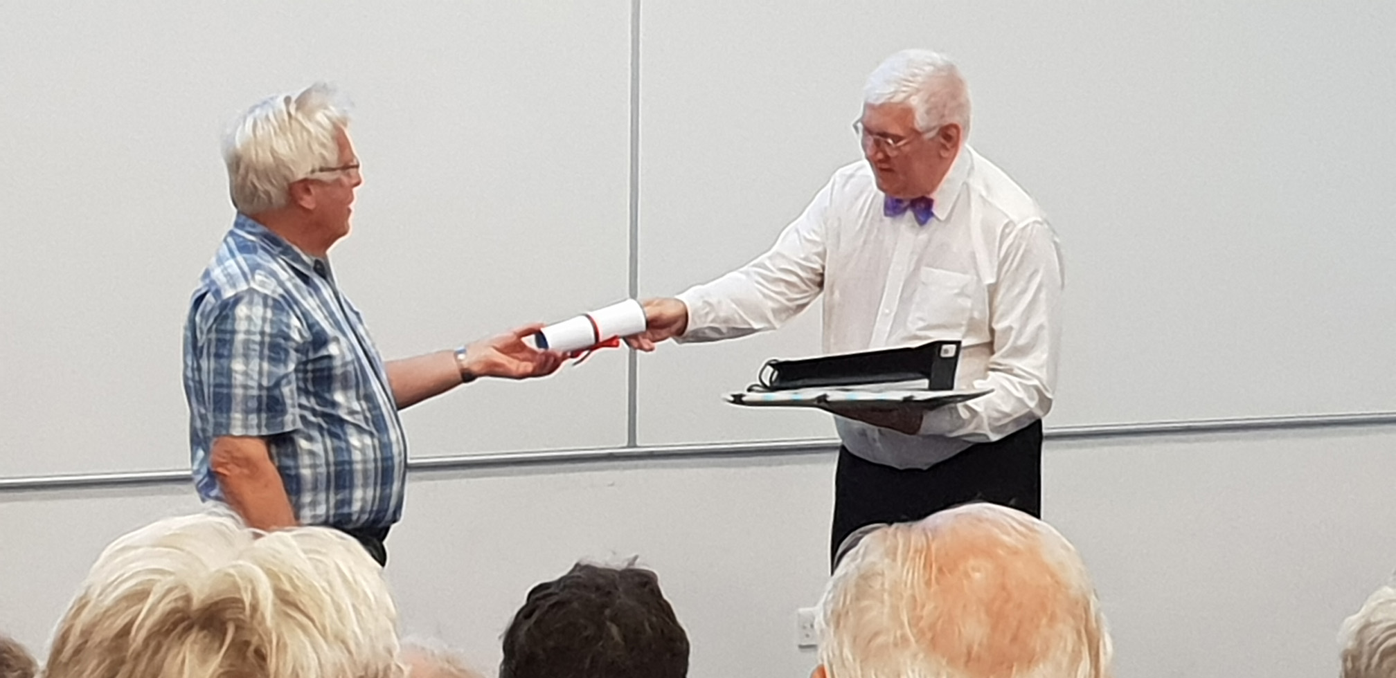 Presentation to Dr Paul Daniels at the 2018 AGM