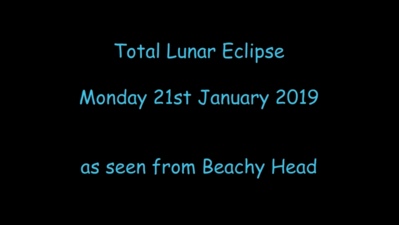2019 Lunar eclipse from Beachy Head
