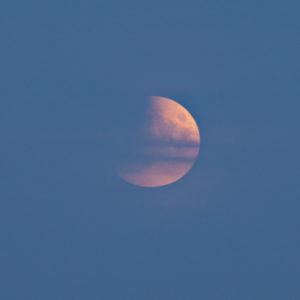 Partial Eclipse from Newlands Corner about 21:30 BST