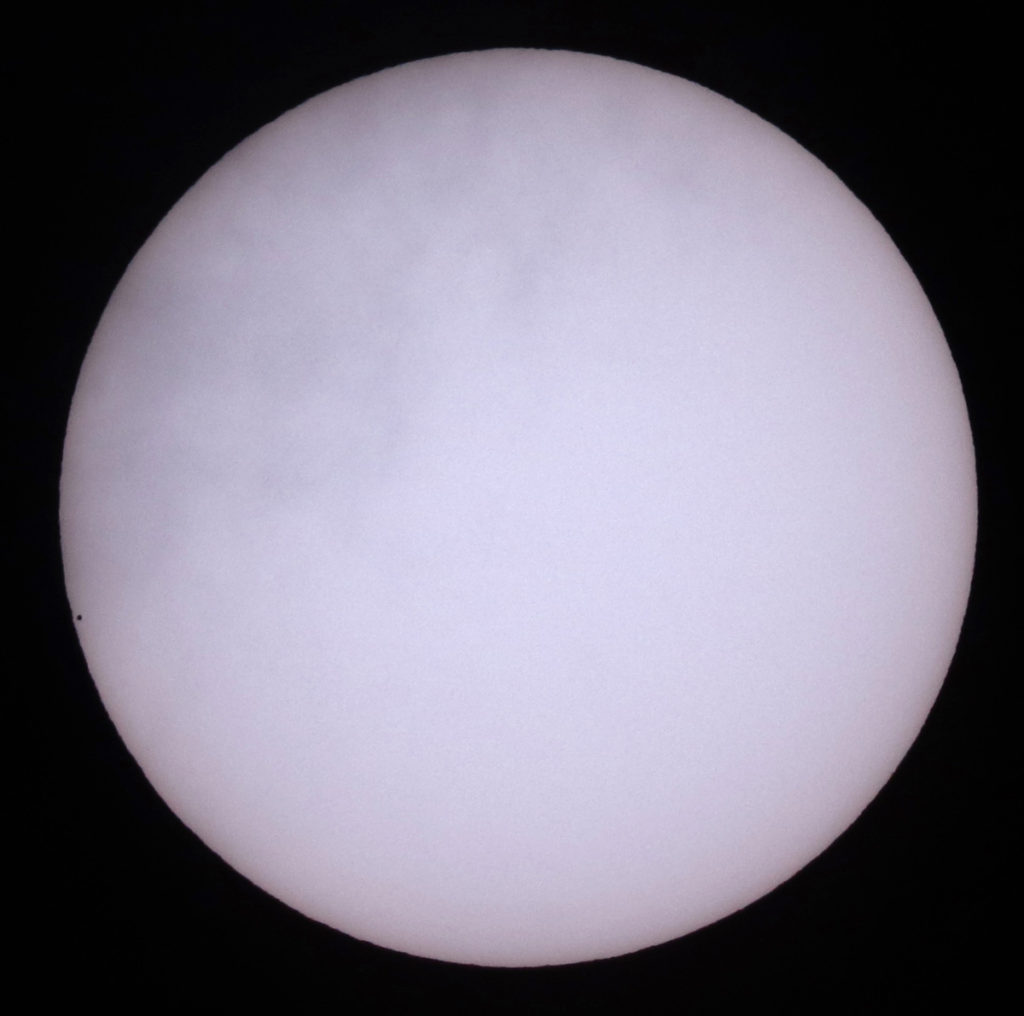 Transit of Mercury @ 12:38GMT