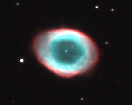 Section of previous image M57 by Jonathan Clark